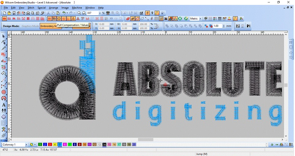 absolute digitizing