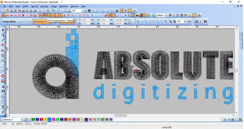 absolute digitizing