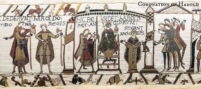 Bayeux, Coronation of Harold