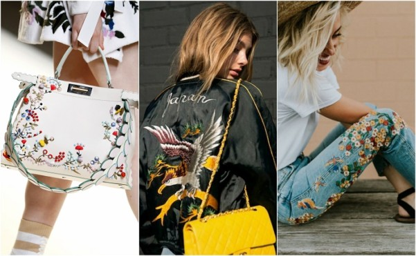 embroidery trends-denim,handabgs and bombers