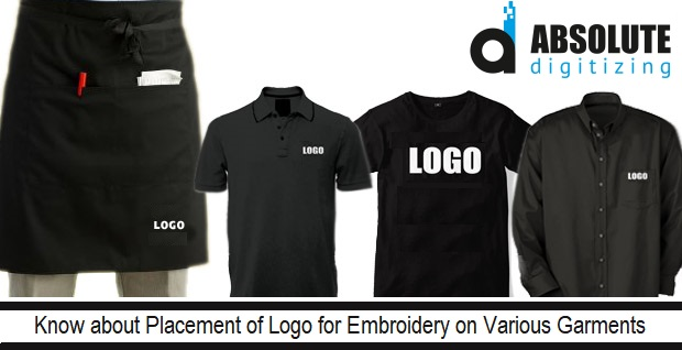Placement Of Logo On Apparel Embroidery Logo Digitizing Absolute