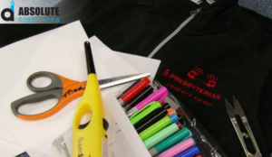using markers in commercial machine embroidery