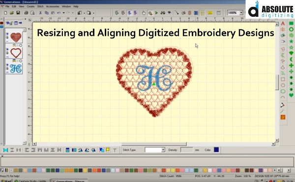 How to Resize and Align already Digitized Embroidery Designs?