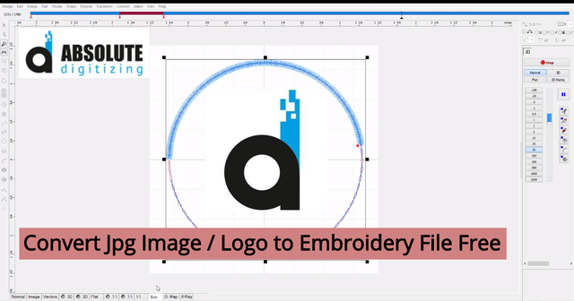 Convert Jpg Image / Logo to Embroidery File Free