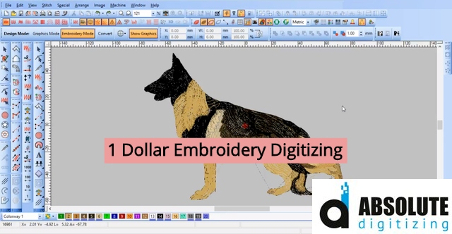 1 dollar embroidery digitizing