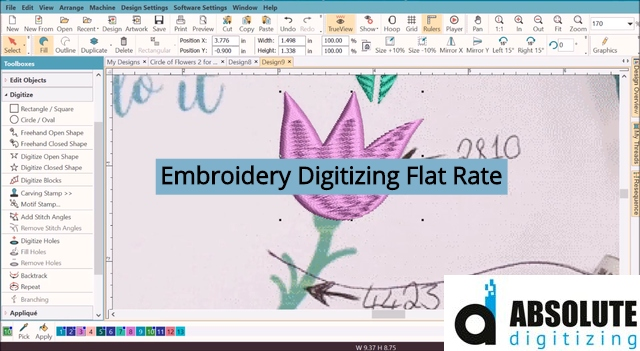 Embroidery Digitizing Flat Rate