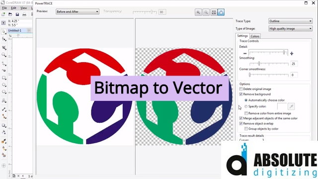 bitmap to vector