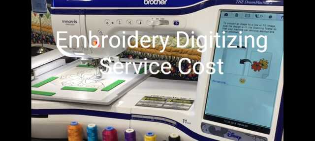 Embroidery Digitizing Service Cost