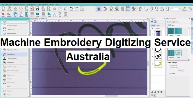 Machine Embroidery Digitizing Service Australia