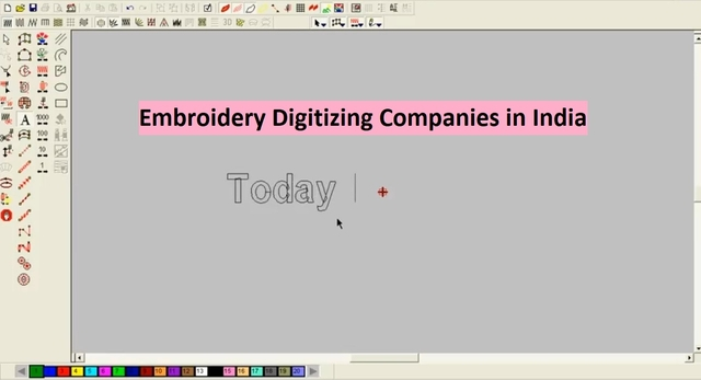 Embroidery Digitizing Companies in India