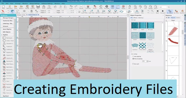Creating embroidery files