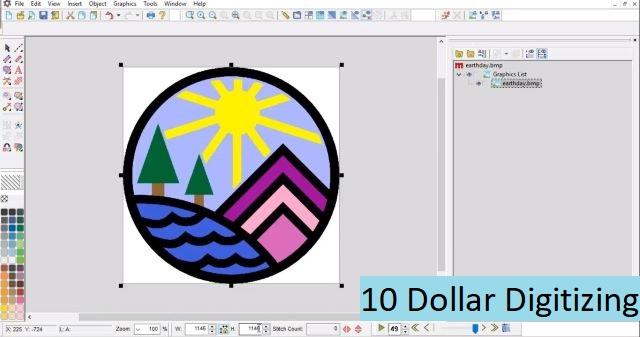 10 dollar digitizing