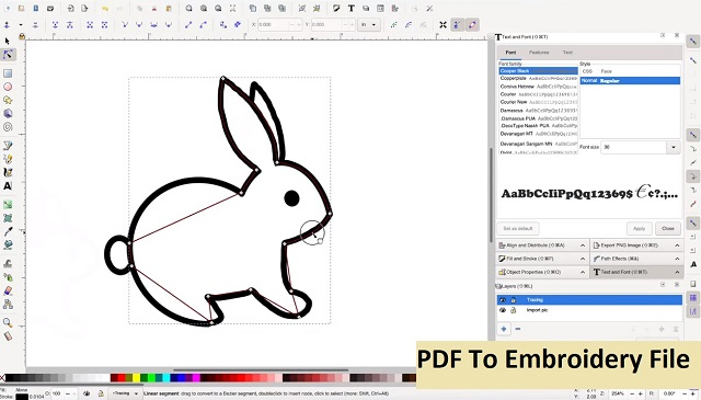 PDF To Embroidery File