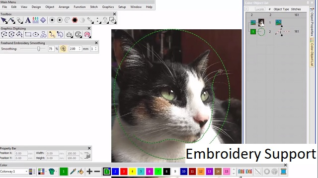 embroidery support