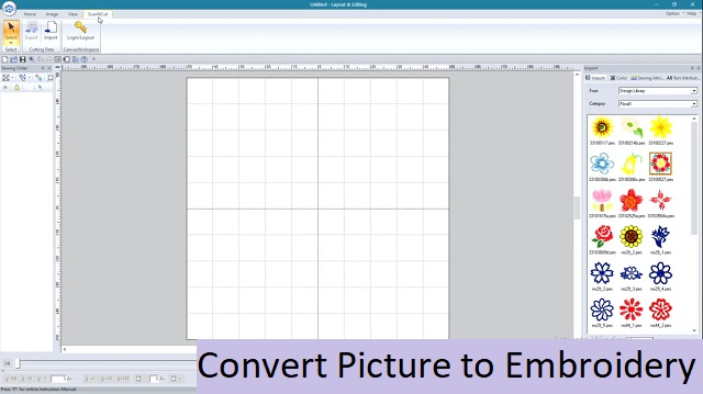 Convert Picture to Embroidery